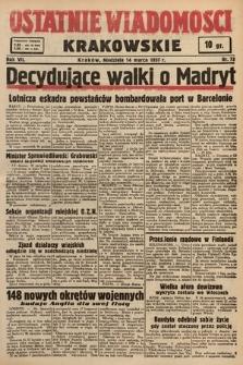 Ostatnie Wiadomości Krakowskie. 1937, nr73