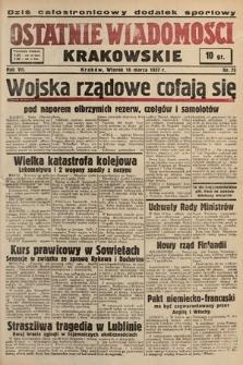 Ostatnie Wiadomości Krakowskie. 1937, nr75