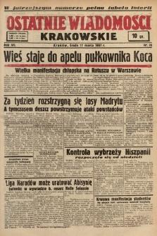 Ostatnie Wiadomości Krakowskie. 1937, nr76