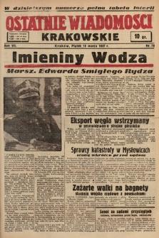 Ostatnie Wiadomości Krakowskie. 1937, nr78