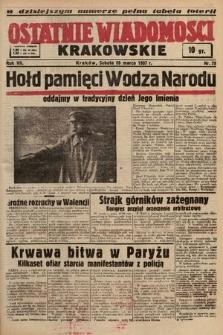 Ostatnie Wiadomości Krakowskie. 1937, nr79