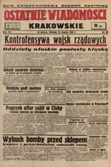 Ostatnie Wiadomości Krakowskie. 1937, nr82