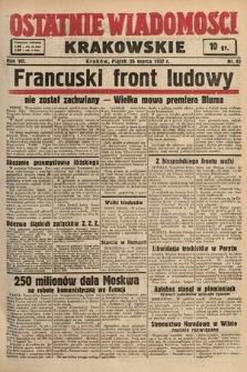 Ostatnie Wiadomości Krakowskie. 1937, nr85