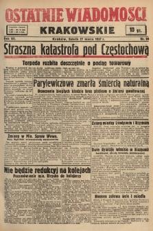 Ostatnie Wiadomości Krakowskie. 1937, nr86
