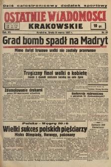 Ostatnie Wiadomości Krakowskie. 1937, nr88