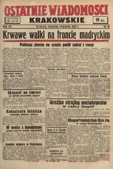 Ostatnie Wiadomości Krakowskie. 1937, nr89