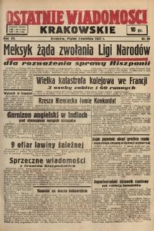Ostatnie Wiadomości Krakowskie. 1937, nr90