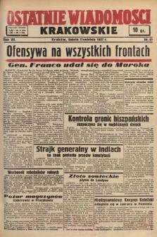 Ostatnie Wiadomości Krakowskie. 1937, nr91