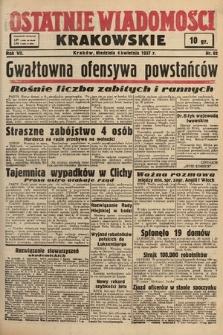 Ostatnie Wiadomości Krakowskie. 1937, nr92