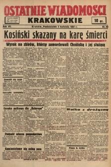 Ostatnie Wiadomości Krakowskie. 1937, nr93