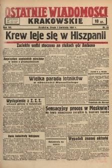 Ostatnie Wiadomości Krakowskie. 1937, nr95