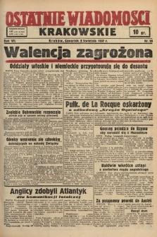 Ostatnie Wiadomości Krakowskie. 1937, nr96
