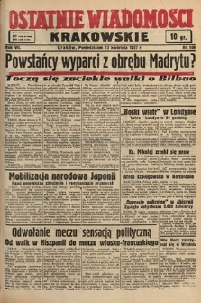 Ostatnie Wiadomości Krakowskie. 1937, nr100