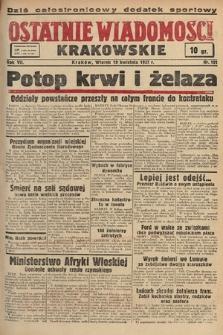 Ostatnie Wiadomości Krakowskie. 1937, nr101