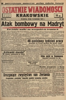 Ostatnie Wiadomości Krakowskie. 1937, nr102