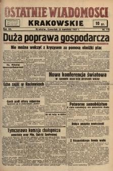 Ostatnie Wiadomości Krakowskie. 1937, nr110