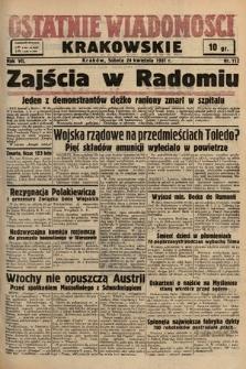 Ostatnie Wiadomości Krakowskie. 1937, nr112
