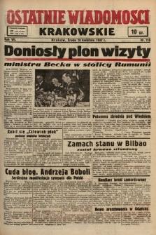 Ostatnie Wiadomości Krakowskie. 1937, nr116