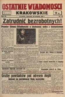 Ostatnie Wiadomości Krakowskie. 1937, nr117