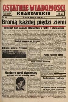 Ostatnie Wiadomości Krakowskie. 1937, nr119