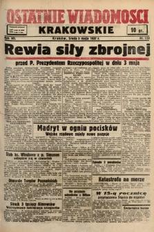 Ostatnie Wiadomości Krakowskie. 1937, nr123