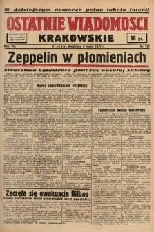 Ostatnie Wiadomości Krakowskie. 1937, nr127