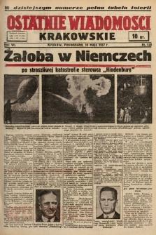 Ostatnie Wiadomości Krakowskie. 1937, nr128
