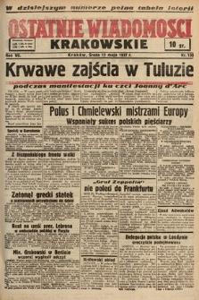 Ostatnie Wiadomości Krakowskie. 1937, nr130