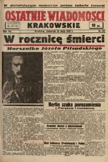 Ostatnie Wiadomości Krakowskie. 1937, nr131