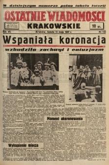 Ostatnie Wiadomości Krakowskie. 1937, nr133