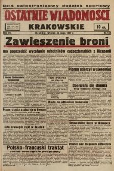 Ostatnie Wiadomości Krakowskie. 1937, nr143