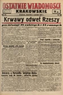 Ostatnie Wiadomości Krakowskie. 1937, nr152
