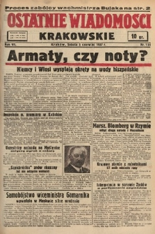 Ostatnie Wiadomości Krakowskie. 1937, nr154