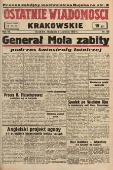 Ostatnie Wiadomości Krakowskie. 1937, nr155