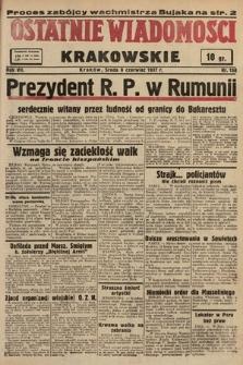 Ostatnie Wiadomości Krakowskie. 1937, nr158