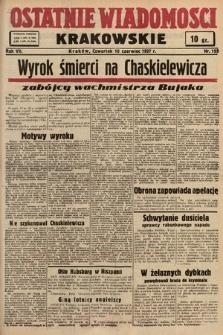 Ostatnie Wiadomości Krakowskie. 1937, nr159