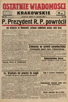 Ostatnie Wiadomości Krakowskie. 1937, nr161
