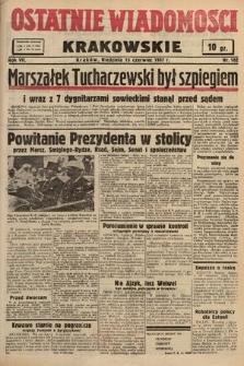 Ostatnie Wiadomości Krakowskie. 1937, nr162