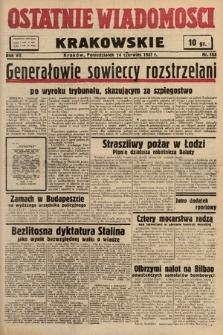 Ostatnie Wiadomości Krakowskie. 1937, nr163