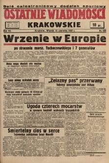 Ostatnie Wiadomości Krakowskie. 1937, nr164