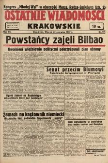 Ostatnie Wiadomości Krakowskie. 1937, nr171
