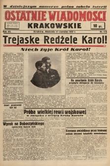 Ostatnie Wiadomości Krakowskie. 1937, nr176