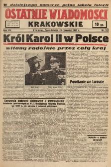 Ostatnie Wiadomości Krakowskie. 1937, nr177