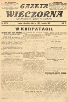 Gazeta Wieczorna. 1915, nr2278