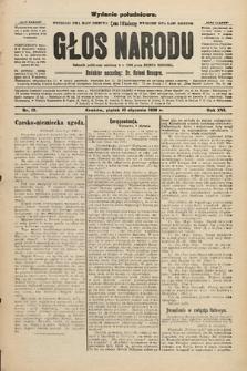 Głos Narodu : dziennik polityczny, założony w r. 1893 przez Józefa Rogosza (wydanie południowe). 1908, nr15