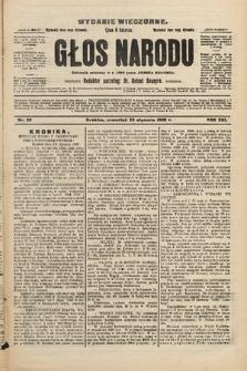 Głos Narodu : dziennik polityczny, założony w r. 1893 przez Józefa Rogosza (wydanie wieczorne). 1908, nr36