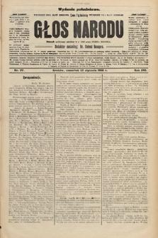 Głos Narodu : dziennik polityczny, założony w r. 1893 przez Józefa Rogosza (wydanie południowe). 1908, nr37