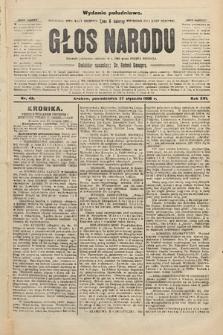 Głos Narodu : dziennik polityczny, założony w r. 1893 przez Józefa Rogosza (wydanie południowe). 1908, nr43