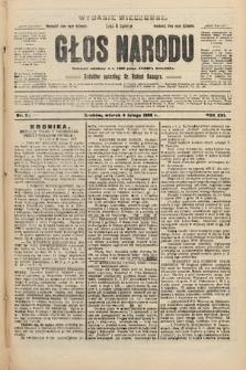 Głos Narodu : dziennik polityczny, założony w r. 1893 przez Józefa Rogosza (wydanie wieczorne). 1908, nr56