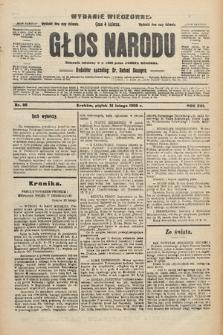 Głos Narodu : dziennik polityczny, założony w r. 1893 przez Józefa Rogosza (wydanie wieczorne). 1908, nr86